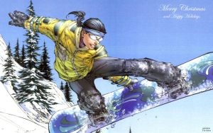Aspen Snowboarding by M Turner by Xionice