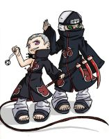 Hidan and Kakuzu by tooneyfish