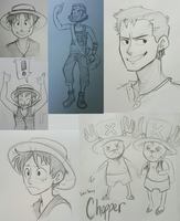 One Piece: Doodles 1 by lewisrockets