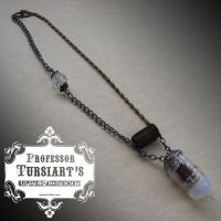 Industrial Amp Tube Necklace by tursiart