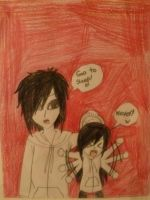 Jeff the killer and kid Kanade XD by KanadeAkatsuki