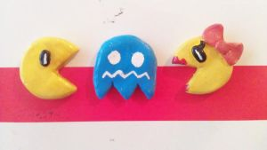 Pacman Magnet set by MeowMowRaa