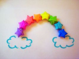 Origami Rainbow by beginthebegin