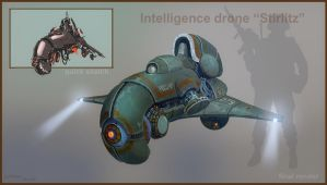 Intelligence drone Stirlitz by cyberkolbasa