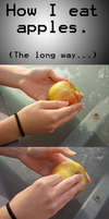 Long way to eat apples... by EntityofAlice