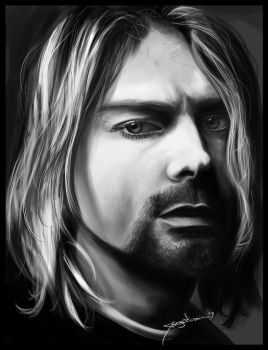 Kurt Cobain by r3cycled
