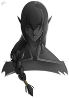 Dark Link Front Profile by WhiteFoxCub