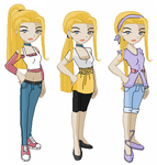 Nina Landen: 2nd Outfits by SoulessLotus