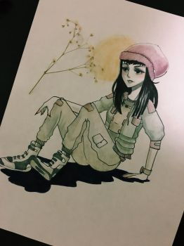 beanie girl by VRCADE