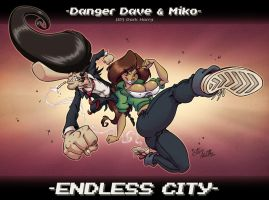 Danger Dave and Miko by eltonpot