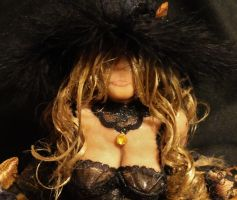 OOAK Halloween Trick Or Treat Witch Mixed Media 10 by GeorgeCalado