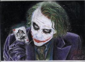 Joker(Batman-Il Cavaliere Oscuro)-Heath Ledger by X-TeO-X