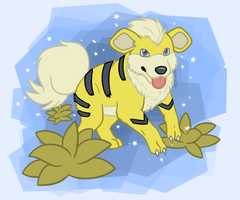 Shiny Growlithe by Iron-Zing