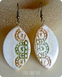 Faux Ceramic Earrings (air dry clay) by ro78