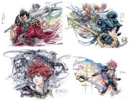Kingdom Hearts 2.5 HD Remix Assorted Art by Nick-Ian