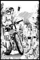 Mountain bikers by ComiPa