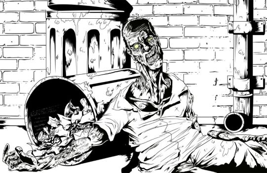 Zombie in the Alley GIF by Frank-Cadillac