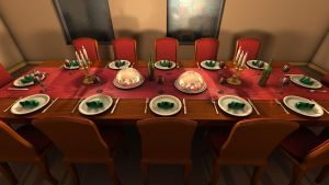 Dining Hall 3D by Natnie