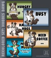 Mood Badges - Hobbes Dawg by TaniDaReal