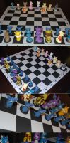 Pokemon Chess Board Partial by ChibiSilverWings