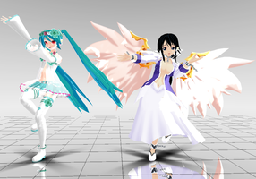[MMD] spiritual and hiyori by lemonyPV