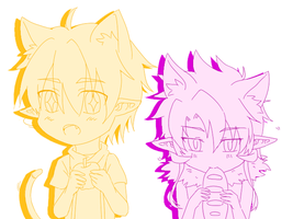 GrandChase - Dio and Ryan Cat by Jchoco