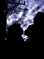 kissing before storm by njoelgraph