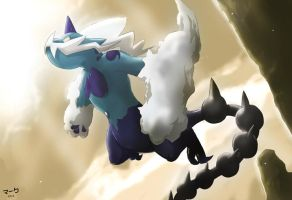 Pokemon: Thundurus Sacred Beast Form by mark331