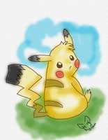 pika water painting by timmy-gost