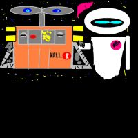 WALL E AND EVE by Bluedragon85