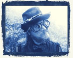 Steampunk Black 25 Cyanotype by Windthin