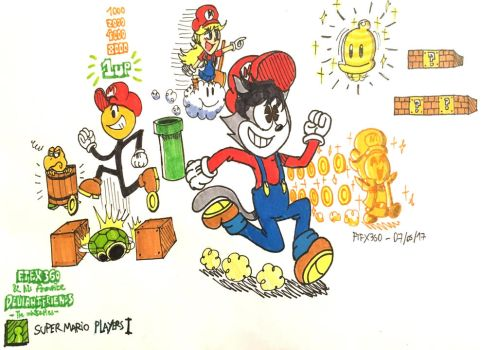 FTFnHFD: Super Mario Players! by FelixToonimeFanX360