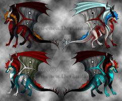 Dragon adoptables CLOSED by Eiden-Enea