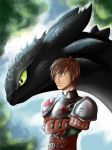 How to train your dragon 2 Hiccup and Toothless by Nami-v