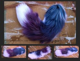Purple and Blue Gradient Yarn Tail by EvlonArts