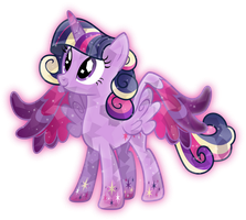 Rainbow Power: Crystal Princess Twilight Sparkle by TheShadowStone