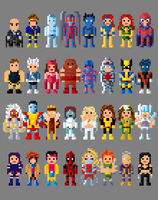 Marvel X Men Characters Collection by LustriousCharming