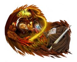 Balrog versus Gandalf color version by ca5per