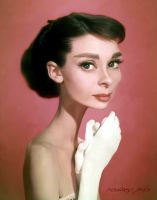 Audrey Hepburn Caricature Study by RodneyPike
