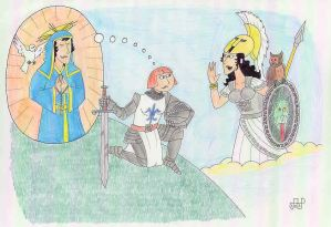 Joan of Arc Mistaking the Goddess Athena For St...