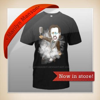 Marilyn Manson - T-SHIRT Now in store! by SAYOMADEIT