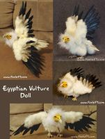 Egyptian Vulture Doll Collage by Foxfeather248
