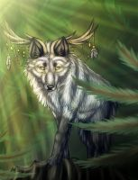 Wendigo the forest spirit by Mivai