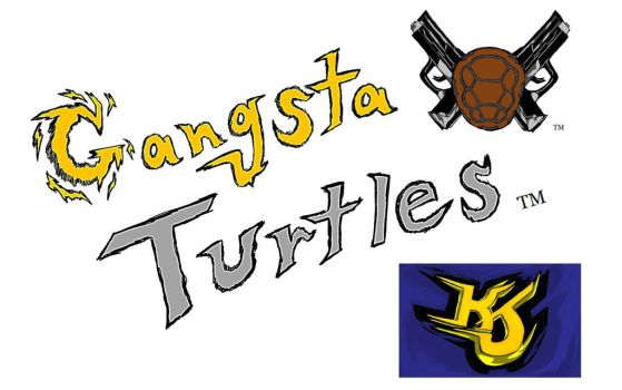 Gangsta Turtles Tie-In Logo OWNED by KJP by KeithJettProductions
