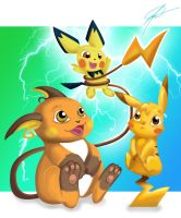 Pikachu Evolution by tihmoller
