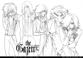 The Gazette - original outfit (sketch) by KaZe-pOn