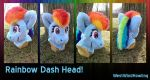Rainbow Dash Head PRICE REDUCED by WestWindHowling