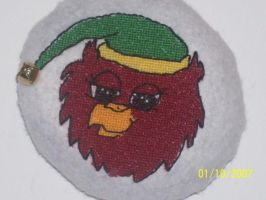 Red Gryphon Cross Stitch by Joce-in-Stitches