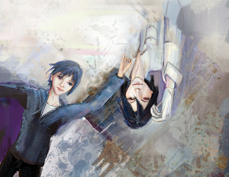 Breath and blood. Sebastian and Ciel by smallsmiles