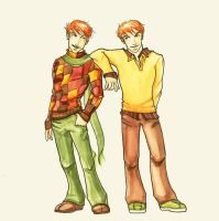 Fred and George: Dead Sexy by The-Starhorse